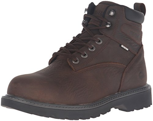 Wolverine Men's Floorhand 6 inch Waterproof Steel Toe Work Shoe, Dark Brown, 11 M US