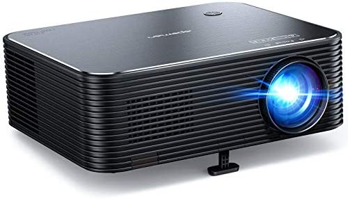 Projector, APEMAN Native 1920 x 1080P HD Portable Projector, Support 4K, 300″ Screen for Home Theater/Outdoor Movie, 4D Electronic Keystone, 75% Zoom, for Smartphone/PC/Xbox/PS4/TV Stick(2020 Upgrade)