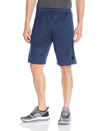 adidas Men's Designed-2-Move 3-Stripe Shorts, Noble Indigo/Noble Indigo, - Indigo Adidas Shorts