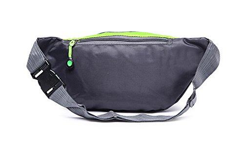 OrrinSports-3-Zipper-Nylon-Water-Resistant-Outdoor-Sports-Fanny-Pack-for-HikingWalkingCampingFishing