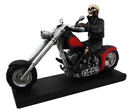 Ghost Statue (Ghost Rider Skeleton Cursed Assassin Biker Motorcycle Chopper Figurine Statue)