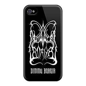Scratch Protection Hard Cell-phone Cases For Iphone 4/4s (Vct7413RryJ) Support Personal Customs Beautiful Dimmu Borgir Band Series
