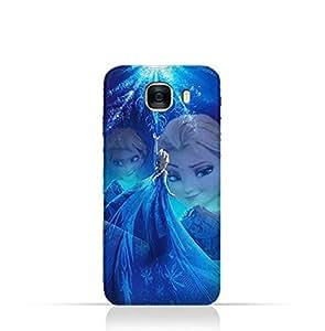 Samsung Galaxy C7 TPU Protective Silicone Case with Frozen Elsa Design