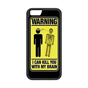 Custom Beware Design Rubber PC Case for Iphone 6 case