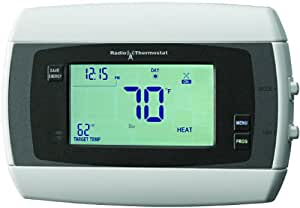 Homewerks Radio Thermostat CT-30-H-K2 Wireless Thermostat with Wi-Fi Module, Dual Wireless Inputs and Touch Screen