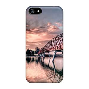 For YiC2829mGbS Metal Bridge Protective Cases Covers Skin/iphone 5/5s Cases Covers