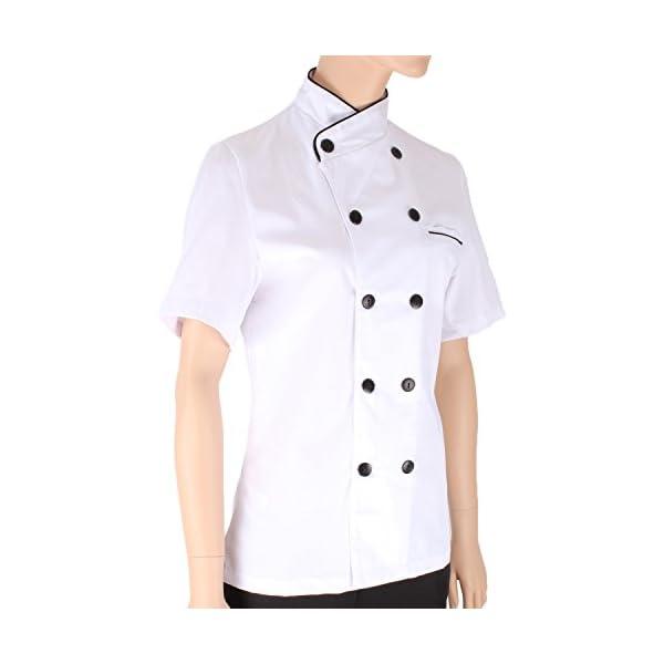 MISEMIYA - Chaquetas Chef Uniforme COCINERA MARMINTÓN SOLLASTRE GUISANDERO ADOBADOR Salsero- Ref.8441 3