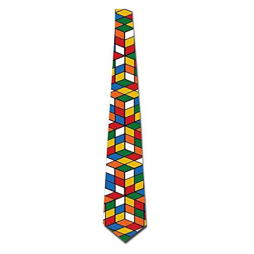 Rubik's Cube World Men's Funny Tie Fashion Novelty (Novelty Mens Tie)