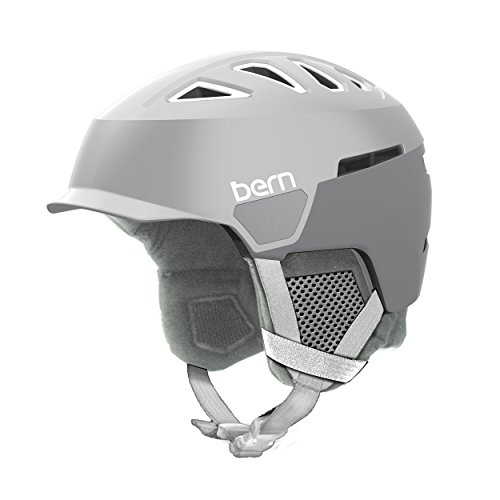 Bern Women's Heist Brim Helmet (Satin Delphin Grey with Grey Liner, Medium)