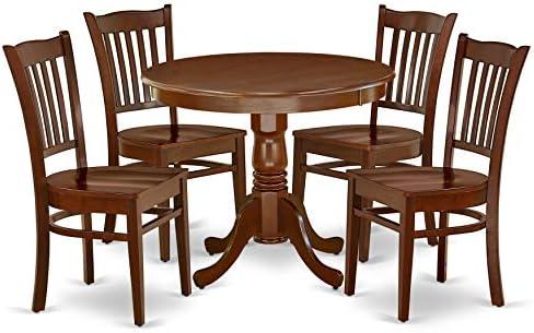 East West Furniture Modern Dining Table Set