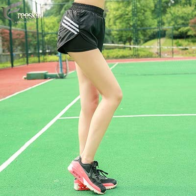 CUSHY Zhangyunuo Women Sports Shorts Stripe Running ...