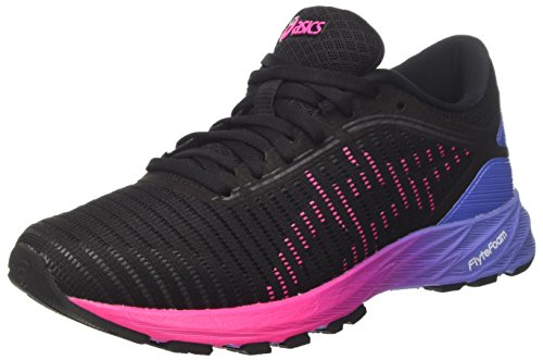 Asics Dynaflyte 2, Zapatillas de Entrenamiento para Mujer Multicolor (Black/Hot Pink/Persian Jewel)
