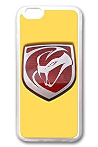 iPhone 4 4s Case - Clear Soft TPU Back Cover with Dodge Viper Car Logo 3 Print for iPhone 4 4s Scratch-Resistant Clear Slim Fit Cover for iPhone 4 4s es
