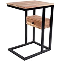 IntradeGlobal 041962598587 Dr Side C Multiple Stand 29-Inch for Small Space/Set of 2/ Acacia Wood Bed Sofa Snack End Table with Drawer, Brown