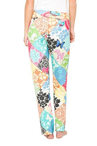 Desigual, Parte Inferior del Pijama para Mujer, Multicolor, Small Orange (AMBAR 7011)
