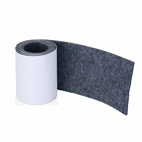 Joyoldelf Heavy Duty Felt Strip Roll - DIY Self Adhesive Furniture Pads & Wood Floor Protector, Suitable for Table, Sofa, Plant Pots and Dishes, 39.37 x 3.93 (Dark Gray)