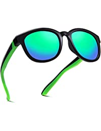 Kids Polarized Sunglasses TPEE Unbreakable Flexible UV Protection for Boys Girls Age 6-12
