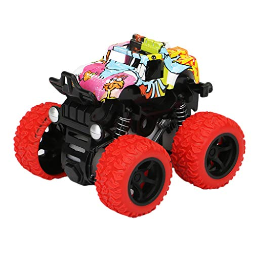 UMFunInertia Four-Wheel Drive Off-Road Vehicle Simulation Model Toy Baby Car (Red) ()