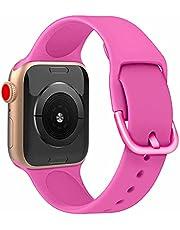 Pulseira Silicone Moderna compatível com Apple Watch 44mm e 42mm - Marca LTIMPORTS