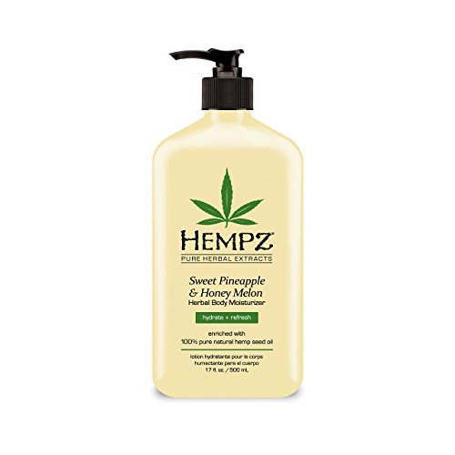 Body Moisturizer: Sweet Pineapple & Honey Melon Skin Lotion, 17 oz (Hempz Pure Herbal Extracts)