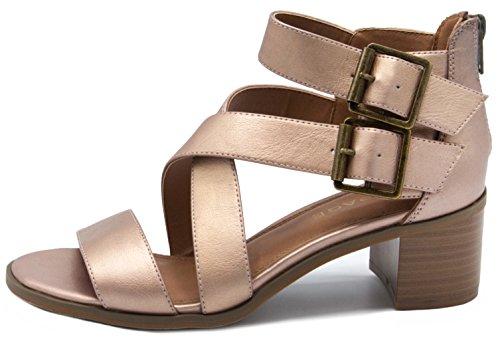 Rampage Rose Women's Havarti Gold Sandal Heeled Metallic 0AvaTr0q