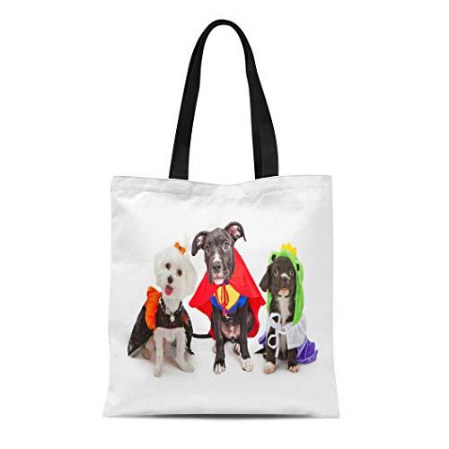 Semtomn Cotton Canvas Tote Bag Three Cute Little
