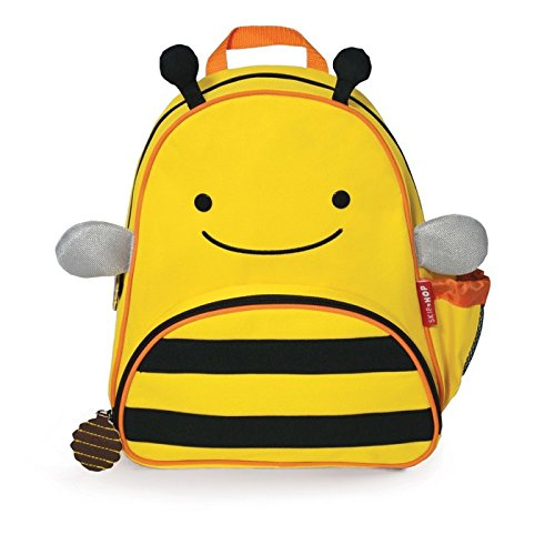 Skip Hop Zoo Toddler Kids Insulated Backpack Brooklyn Bee, 12-inches, Yellow
