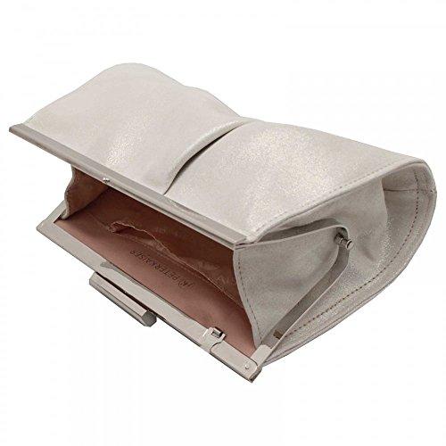 Framed Peter Peter White Kaiser Kaiser Likana Handbag Close Clasp Clutch 1qRIH