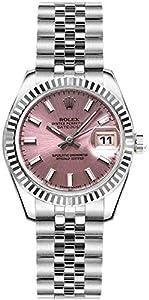 Women's Rolex Lady-Datejust 26 Pink Dial Steel Watch on Jubilee Bracelet (Ref: 179174) by Rolex Watches