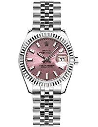 Womens Rolex Lady-Datejust 26 Pink Dial Steel Watch on Jubilee Bracelet (Ref:
