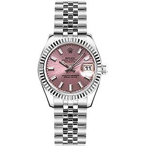 Best Epic Trends 41ernK8BHwL._SS300_ Women's Rolex Lady-Datejust 26 Pink Dial Steel Watch on Jubilee Bracelet (Ref: 179174)