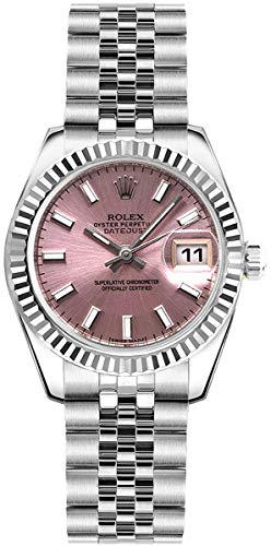 Women's Rolex Lady-Datejust 26 Pink Dial Steel Watch on Jubilee Bracelet (Ref: 179174)