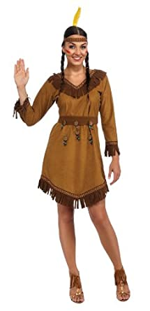 01f5e086f Amazon.com: Rubie's Woman's Native American Costume, Brown, One Size ...