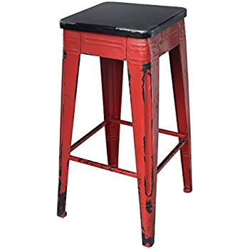 Amazon Com Moes Home Collection Sturdy Bar Stool Red