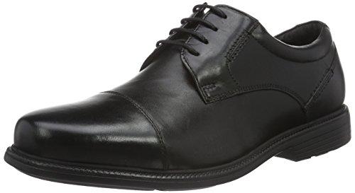 Rockport Black Stringate Captoe Nero Scarpe Charlesroad Uomo rSvrxqCT