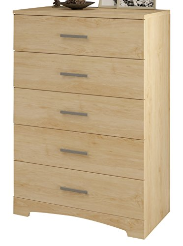 South Shore Gramercy 5-Drawer Chest, Natural Maple (Maple Finish 5 Drawer)