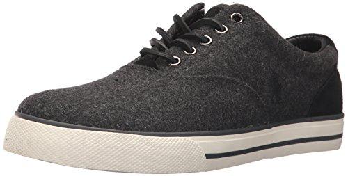 Polo Ralph Lauren Men's Vaughn Sneaker, Charcoal Heather, 12 D US
