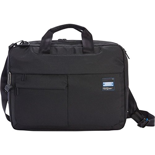 Hedgren Tax 3-way Expandable Business Briefcase, Black by Hedgren