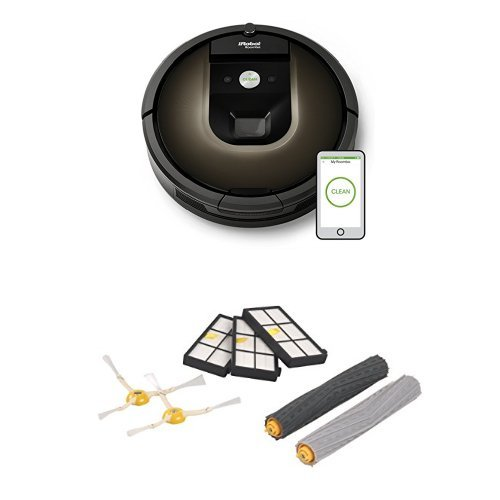 iRobot Roomba 980 Robotic Vacuum Cleaner with a Roomba 900 Series Replenishment Kit