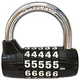 Lucchetto BaouRouge a 5 cifre con combinazione azzerabile 65 millimetri (Nero)