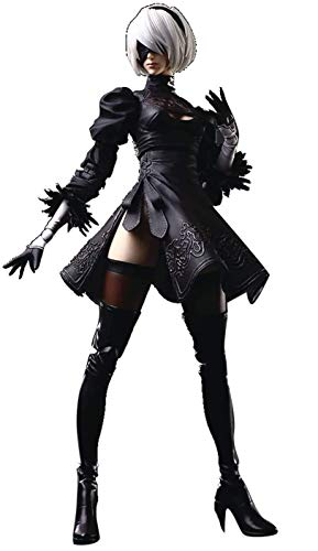 Square Enix NieR Automata: 2B Yorha No. 2 Type B Deluxe Play Arts Kai Action Figure, Multicolor