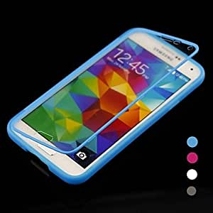 Mini - USB Cable + Stylus Pen + HD Screen Protector + Solid Color with Touch Screen Full Body Case for Samsung Galaxy S5 I9600 ,Color: Black