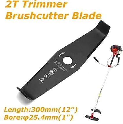 Amazon.com: 300 mm 2 dientes Desbrozadora Trimmer Cuchilla ...