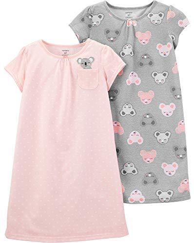 Carter's Girls' 2 Pk Gown Poly 373g082 (6-7, Pink/Grey Koala)