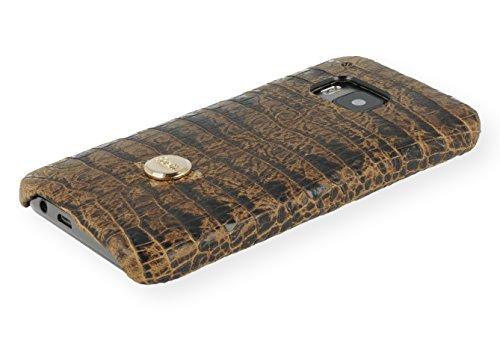 QIOTTI QX-C-0130-04-HO9 Snapcase Q.Snap Balance Premium Echtleder für HTC One M9 braun