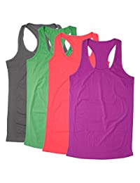 Bolly Queena Camisole for Women, 1,3,4 Packs Adjustable Spaghetti Strap Cami