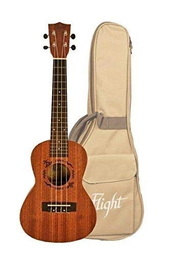 Flight NUC 310 Concert Natural Series Mahogany Ukulele with Gig Bag