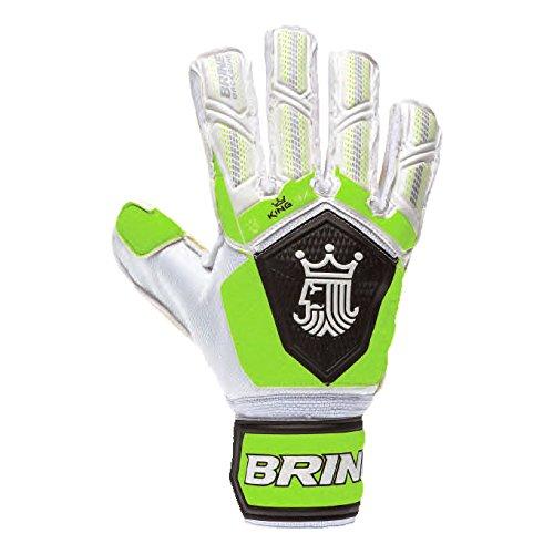 Goalkeeper Gloves Brine King Match 3X Soccer Goalie Glove Finger Save Protection Spines (Toxic, 11)
