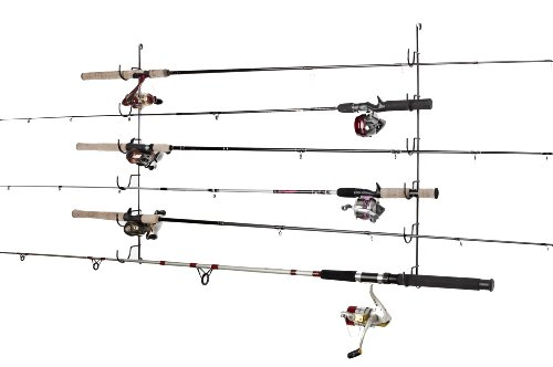 wall mount fishing rod holder - 9