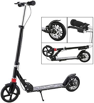 Hikole Scooter for Adult Teens Big Wheels Shoulder Strap Aluminium ...